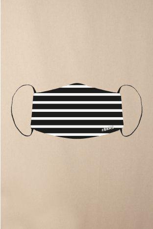 Gesichtsmaske BRKS Black White Stripes