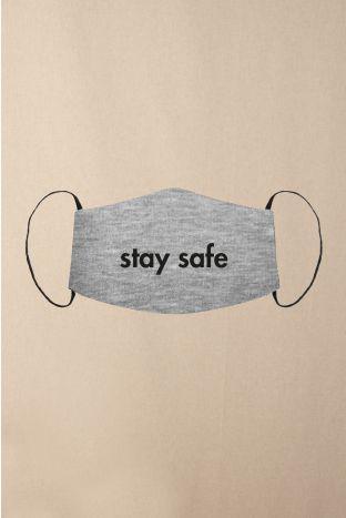 Gesichtsmaske Stay Safe Grey Heather