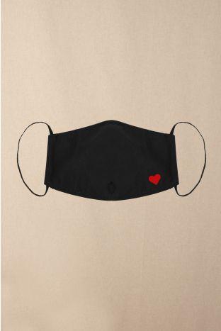 Gesichtsmaske Heart Black