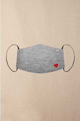 Gesichtsmaske Heart Grey Heather
