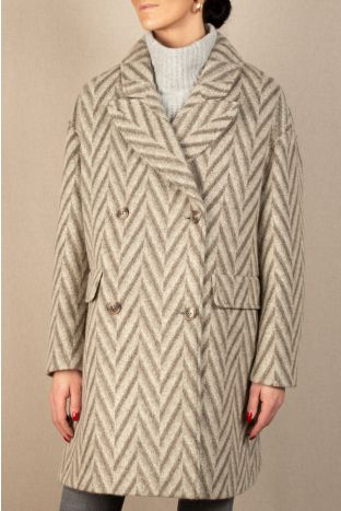 Closed Herringbone Coat