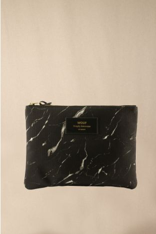 Wouf Marble Large Pouch Kosmetiktasche