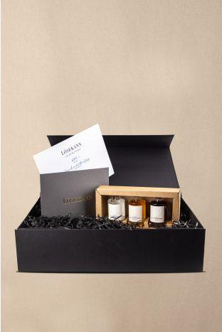 Gutschein Box schwarz 250 EUR + gratis Stauffenberg Gin Se